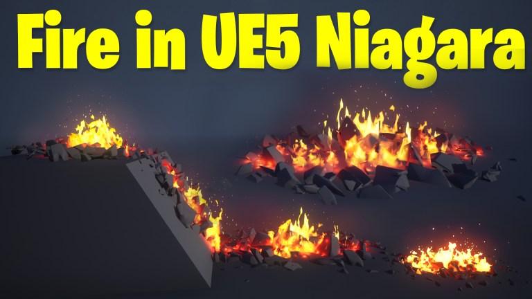 Fire in UE5 Niagara Tutorial   Download Files