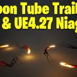 Ribbon Tube Trails in UE4.27 - UE5 Niagara Tutorial   Download Files