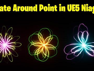 Rotate Around Point in UE5 Niagara Tutorial | Download Files