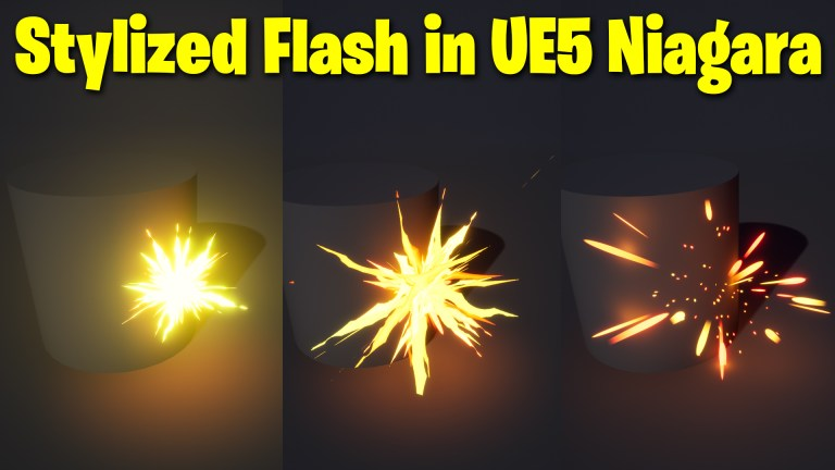 Stylized Flash in UE5 Niagara Tutorial | Download Files