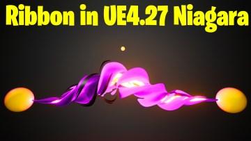 Twisted Ribbon in UE4.27 Niagara Tutorial | Download Files