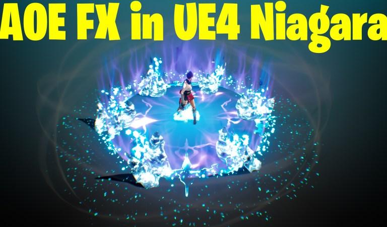 AOE Ice Attack in UE4.27 Niagara Tutorial | Download Files