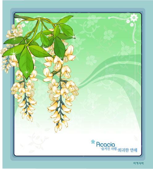 Acacia Flower Frame Vector Free Download