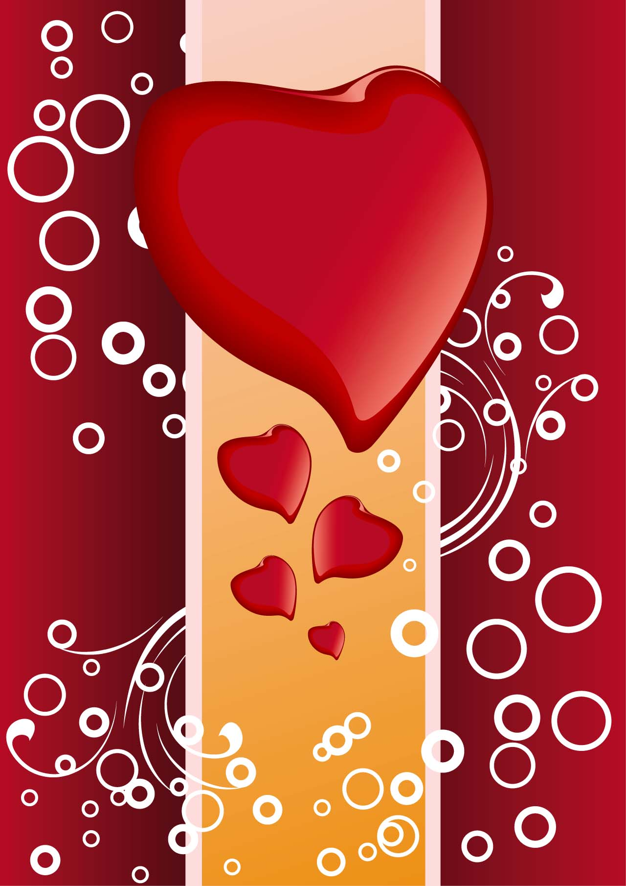 Modern Hearts Background Vector Free Download