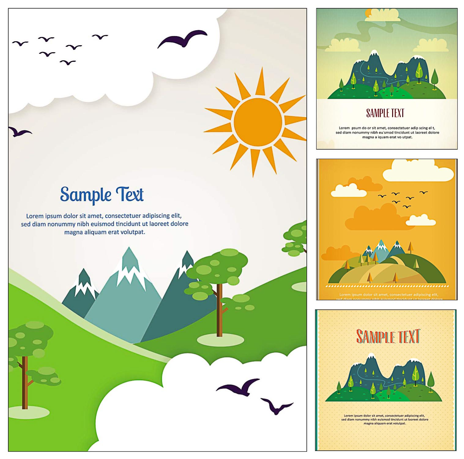Travel Postcard Illustration Vector Free Download
