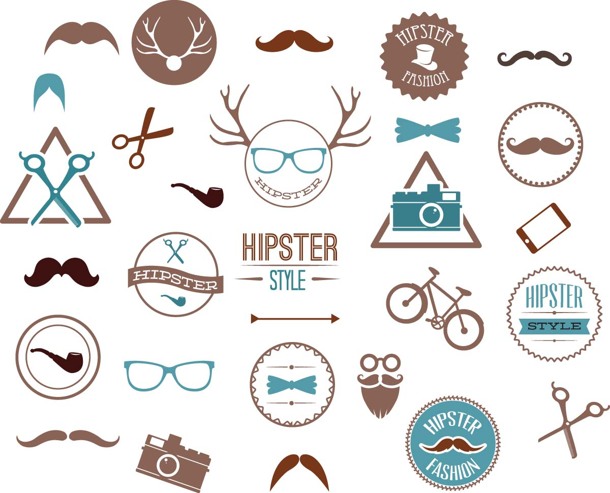 Hipster Fashion Set Vector Free Download