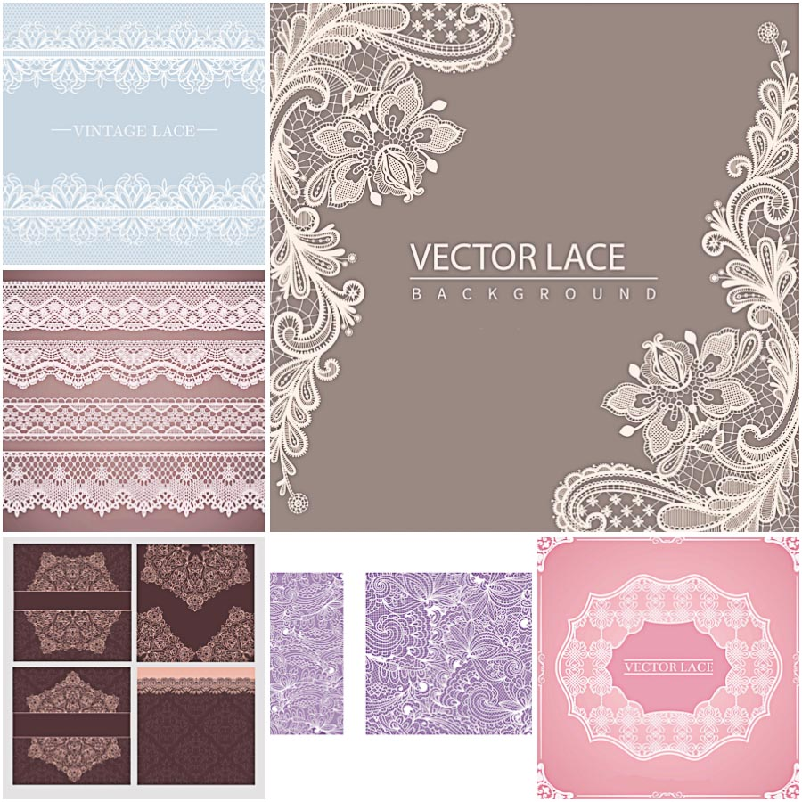 Laces Backgrounds Ornate Vector Free Download