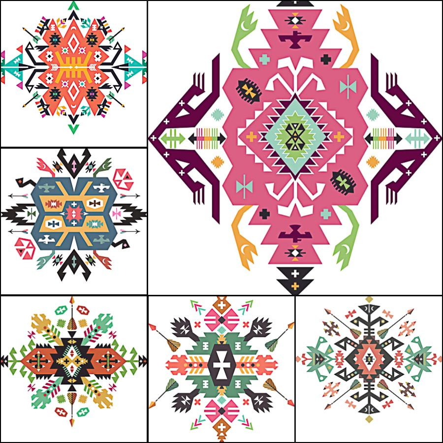 Ethnic Ornament Indian Vector Free Download