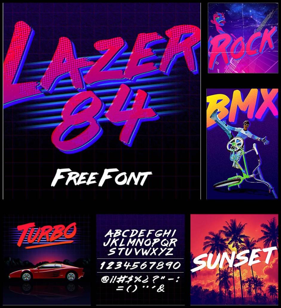 Laser 84 Retro Font Free Download