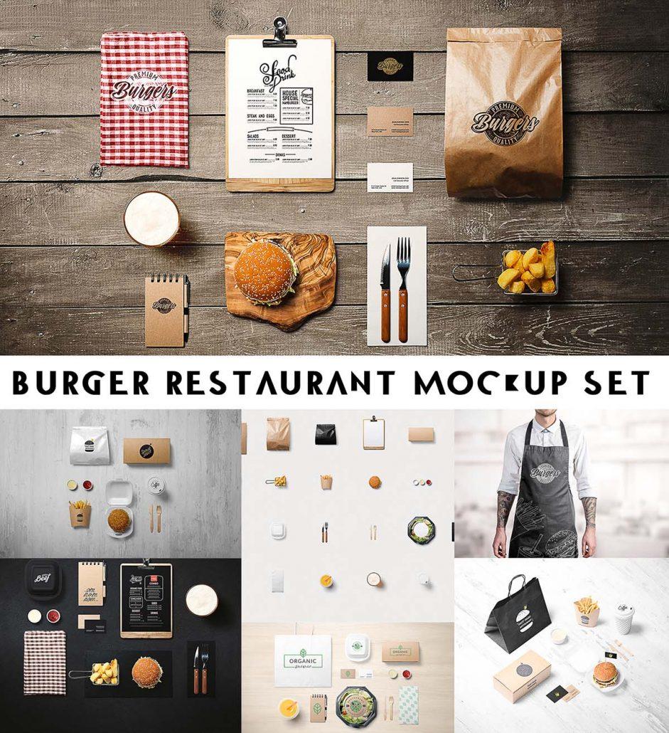 Burger Restaurant Mockup Free Download