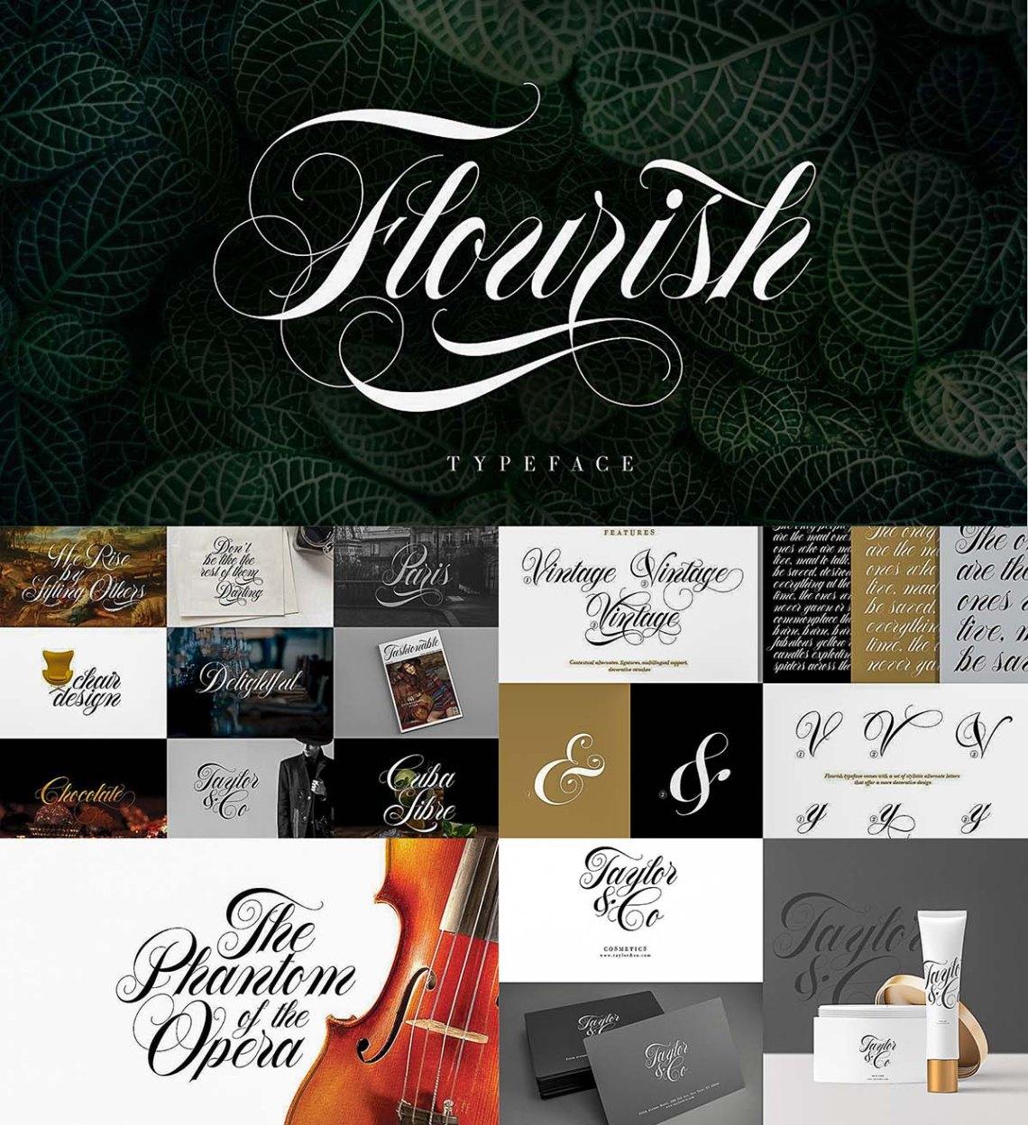 Download Flourish typeface   Free download