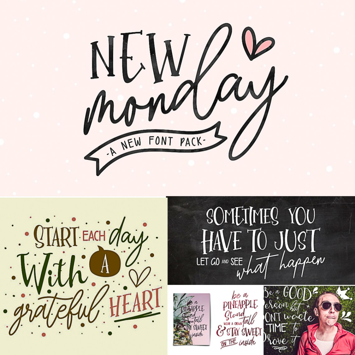 Download New Monday Font Pack | Free download