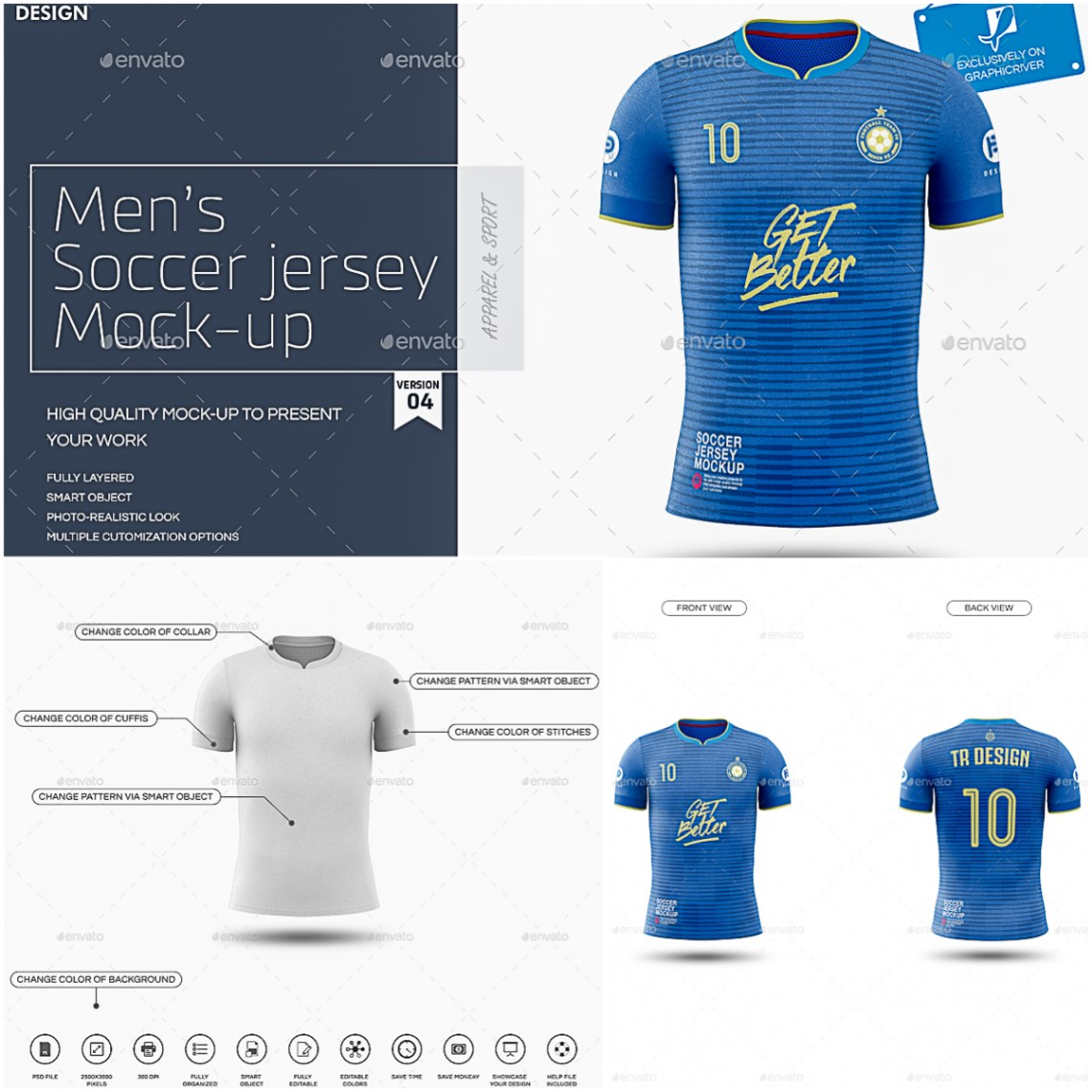 Download Men's Soccer Jersey Mockup | Free download