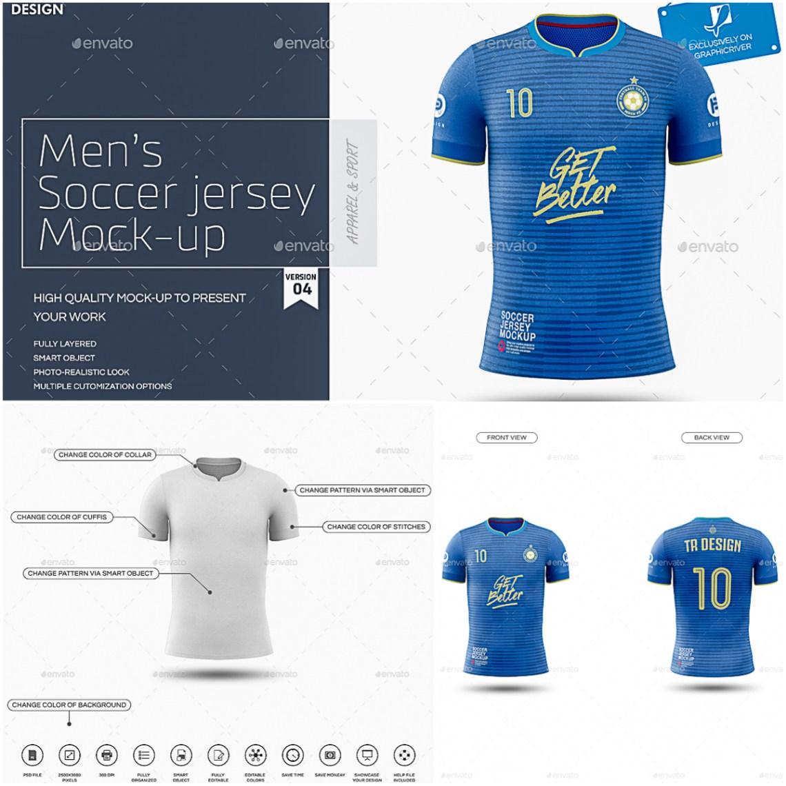 Download Men's Soccer Jersey Mockup | Free download