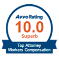 Avvo Superb Rated Top Workers' Compensation Attorney