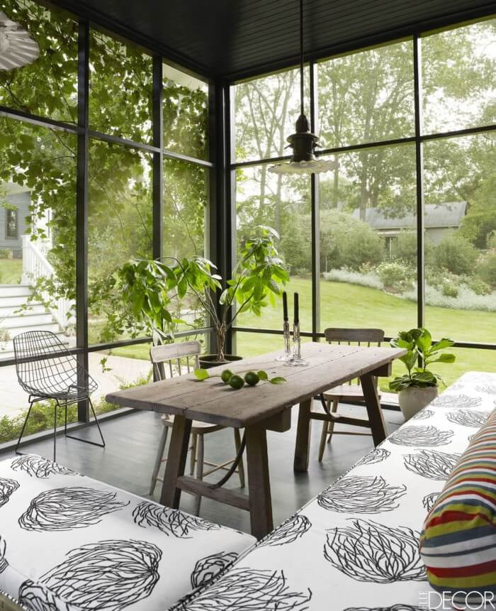 Modern sunroom curtains decorating ideas window treatments