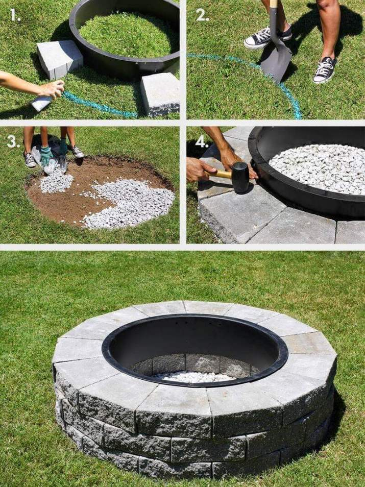 Beautiful fire pit ideas in ground to make for your backyard