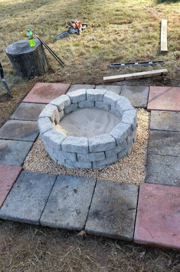 Incredible fire pit ideas stone to make for your backyard