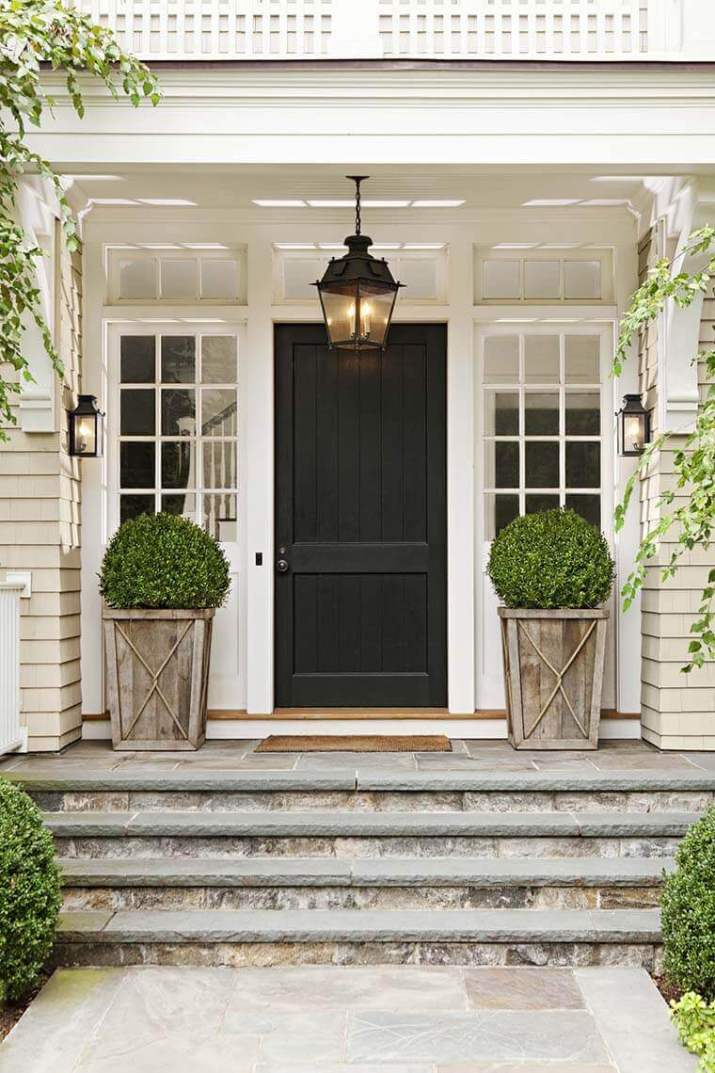 Quick and easy front door plant pots to liven up your home for a good first impression.