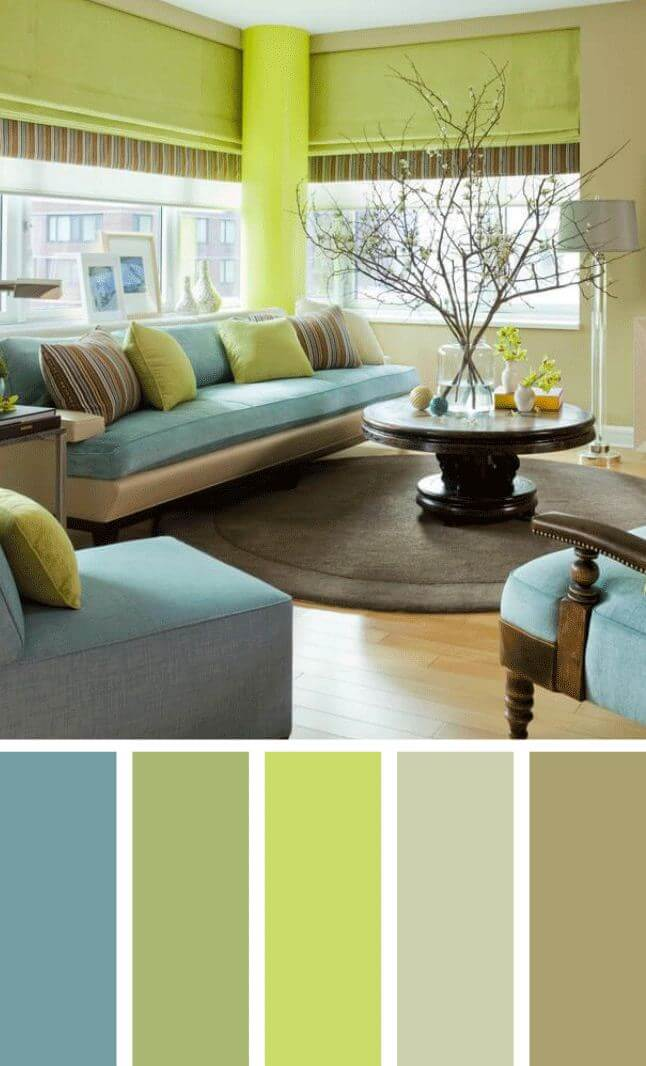 Beautiful small living room color schemes that will make your room look professionally designed for you that are cheap and simple to do. #livingroomcolorschemes #livingroomcolorschemeideas