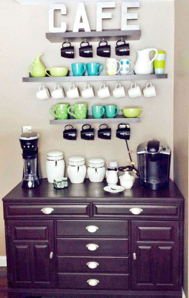Ways for a perfect fixer upper style diy coffee station ideas to make a coffee bar at home for your cozy home. You need to see