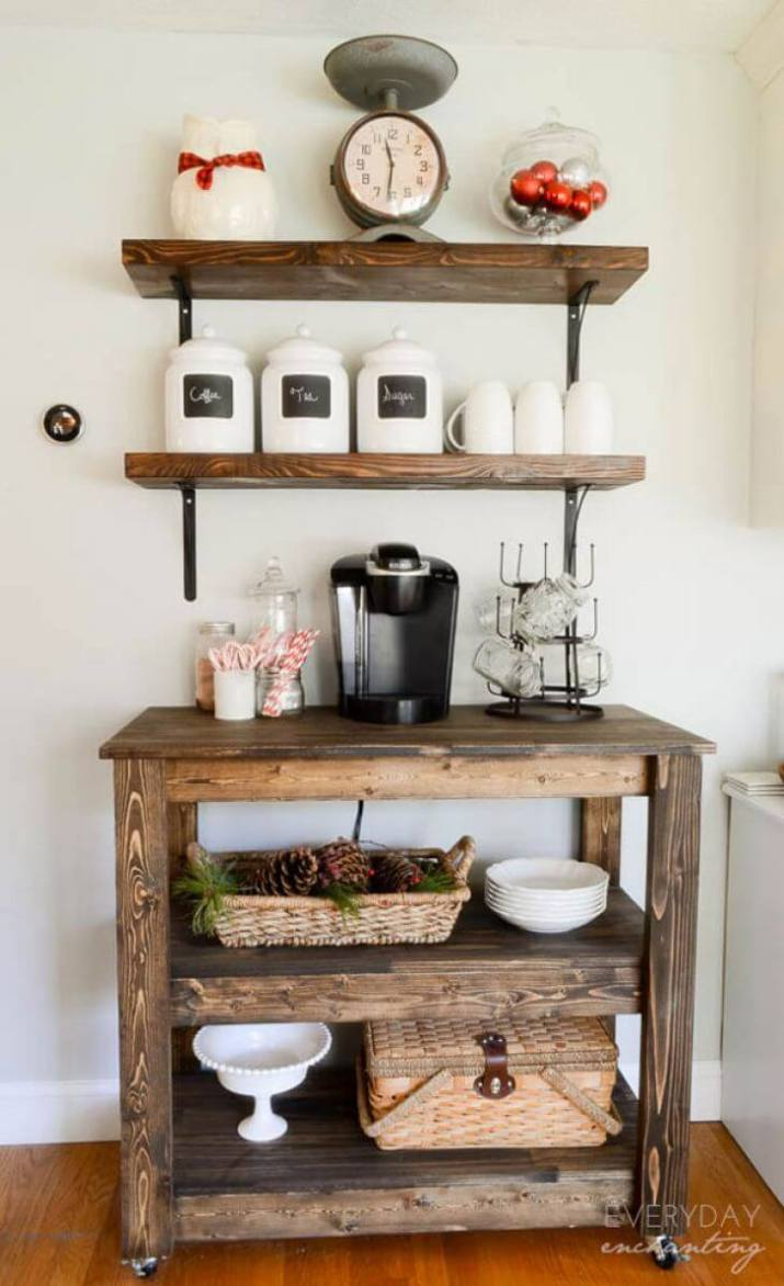 The most popular new DIY coffee station ideas each and every detail of this makeover is truly amazing and so full of unique style!