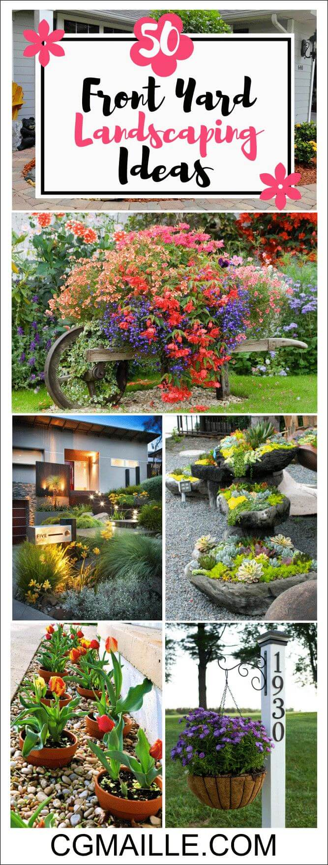 25+ Simple And Small Front Yard Landscaping Ideas (Low ... on Tiny Front Yard Ideas id=90251