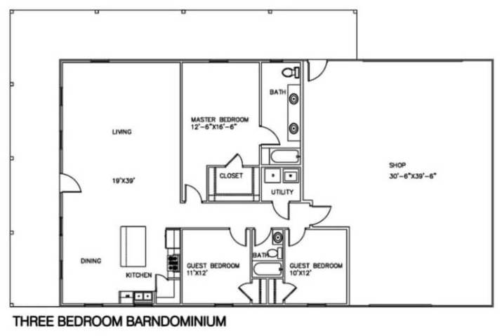 [HQ Plan] Best barndominium floor plans with shop. #barndominium #barndominiumfloorplans #barndominiumplans