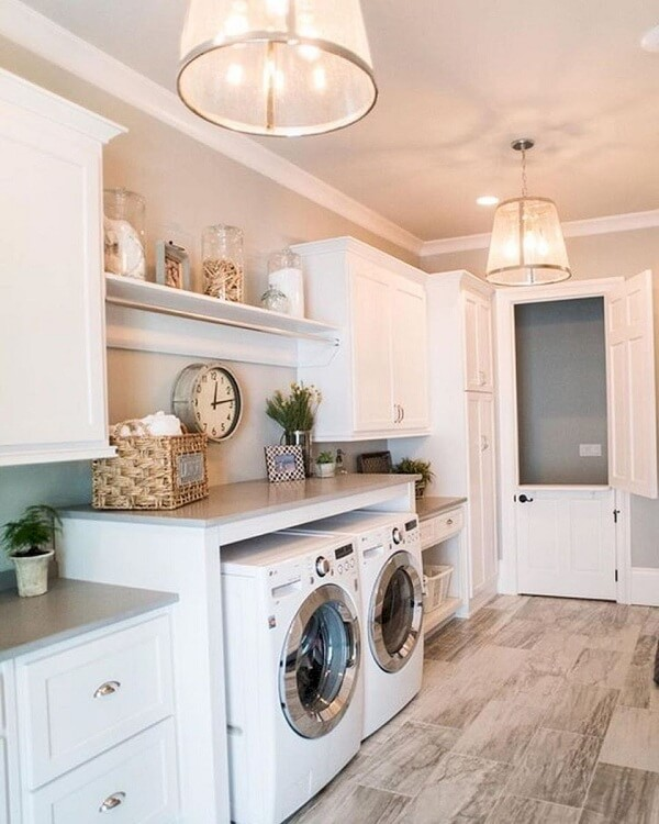 modern farmhouse laundry room decor ideas