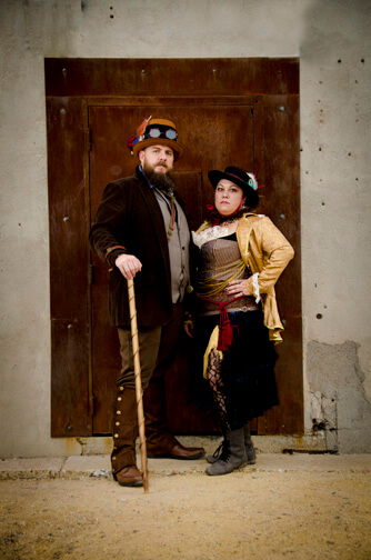 Family Portraits Steampunk Outfits Downtown Tempe