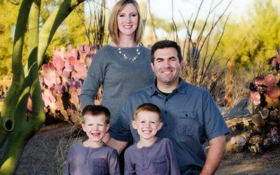Hilarious Brothers at Chandler Family Portrait Session