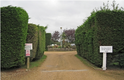 Entrance to the pitches