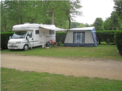 The pitches are big enough to accomodate large motorhomes