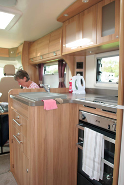 Bailey Approach 740 SE Motorhome Kitchen