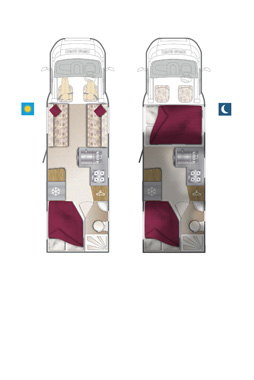Bailey Approach 740 SE Motorhome floorplan