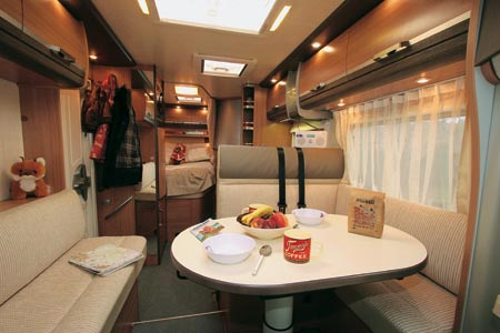 Knaus Sky TI 650 MF dining area and long shot