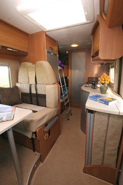 Autocruise Quartet half dinette and bunk beds