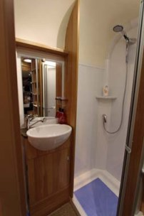Bailey Approach Compact 540 Motorhome Shower room