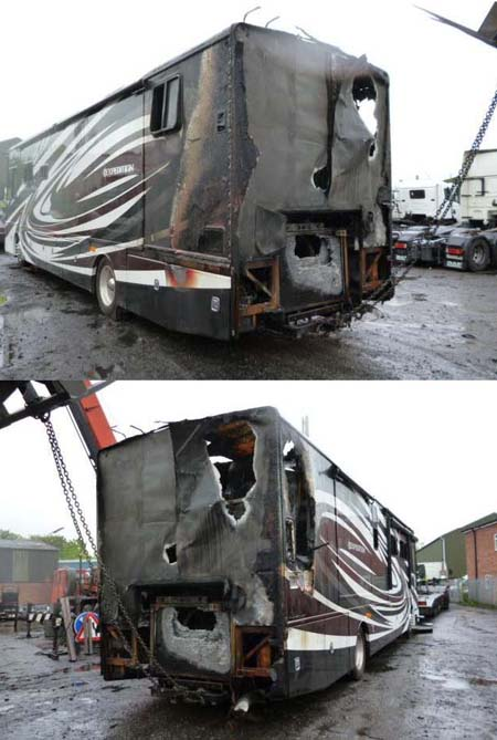 This fire caused the American A-Class to be written off