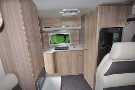 Adria Matrix Axess open plan living