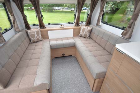 2014 Adria Adora Seine seating area