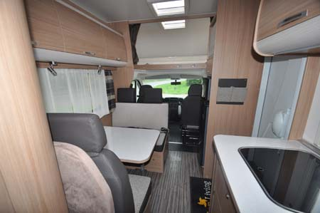 Sunliving A49 DP motorhome interior looking forward