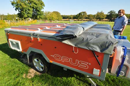 Opus Trailer Tent Unhitching
