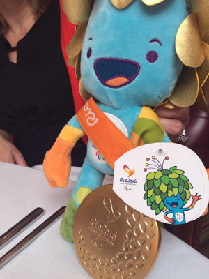 Rio Paralympics mascot and gold medal