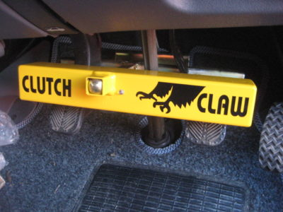 Motorhome security clutch claw