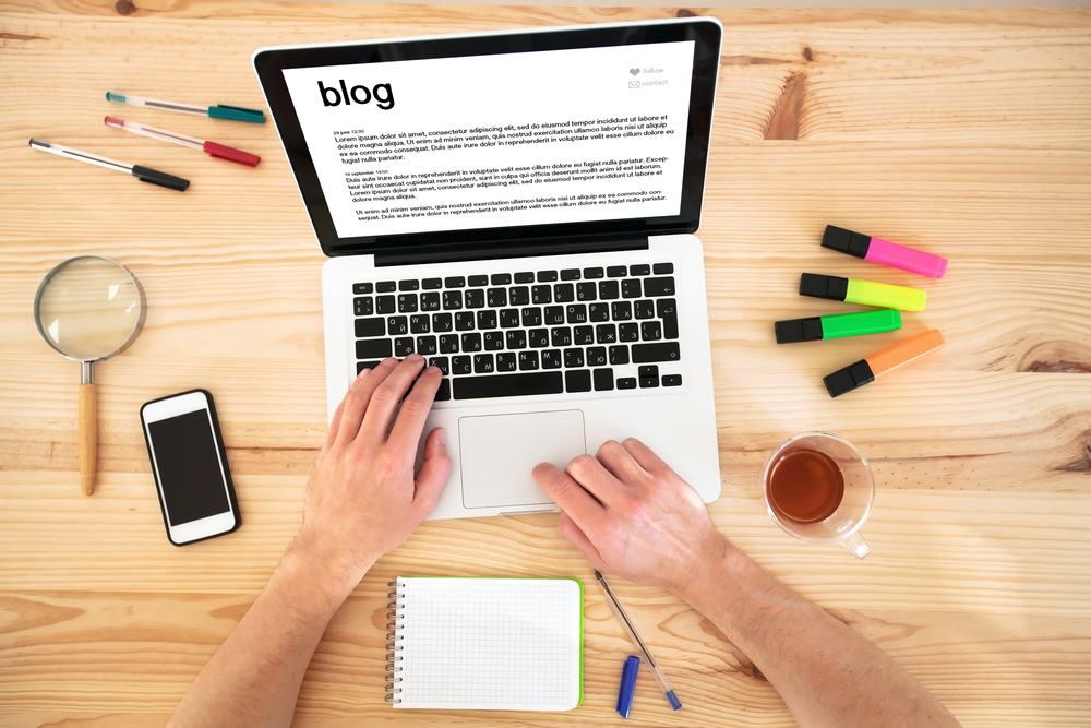 Image result for person writing a blog