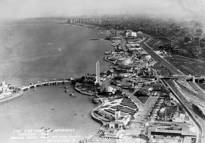 Aerial Shot of Chicago 1933 Fair