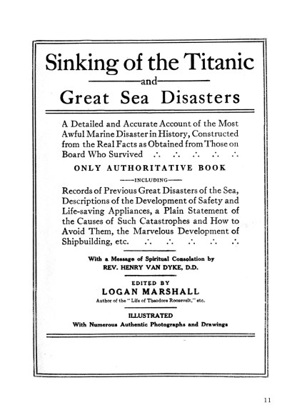 Sinking of the Titanic: The Greatest Disaster At Sea - Special Edition with Additional Photographs image 1