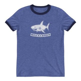 Retro Megalodon Ringer T-Shirt