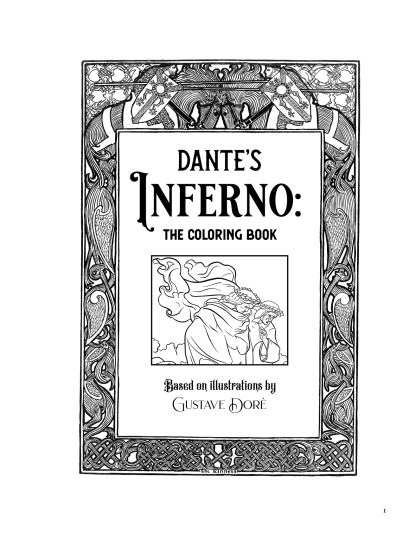 Dante's Inferno: The Coloring Book image 1